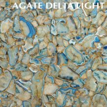 AGATE DELTA LIGHT WITH GOLD INLAY
